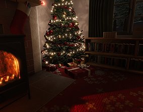 3D asset Cosy Christmas Scene for Unity