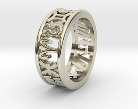 3D print model 57size Constellation symbol ring