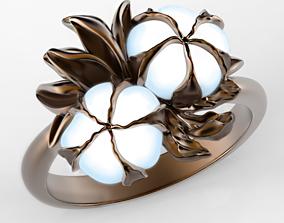 3D print model Fluffy cotton enamel ring