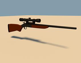 Rigged Rifle 3D asset