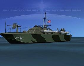 Patrol Torpedo Boat PT34 3D model