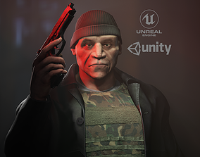 The leader of the bandits 3D asset