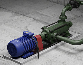 3D Industrial multi-section centrifugal pump