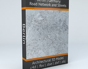 3D Berlin Road Network and Streets