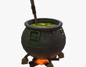 Witch Cauldron 3D asset