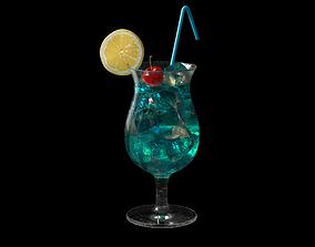3D cocktail blue lagoon