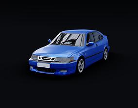 1999 Saab 9-3 Viggen 3D asset