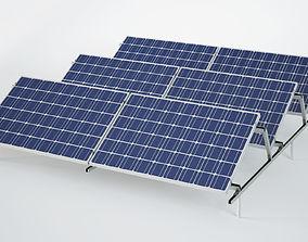 3D outdoor Sun Solar Panels