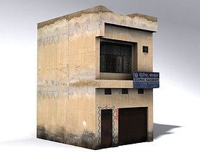 Indian Building Low Poly 3D asset