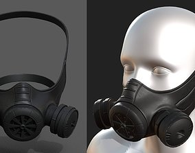 Gas mask helmet 3d model military combat VR / AR ready