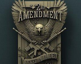 Second amendment 3d stl model for cnc