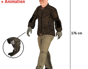 3D asset animated Delivery Guy Walking Animation