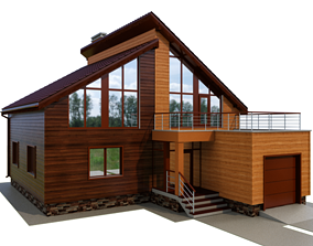 3D Cottage with siding