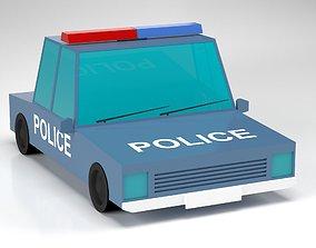 VR / AR ready Police Car Low-Poly 3D Model