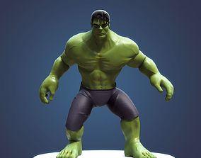 3D rigged Hulk Cartoon