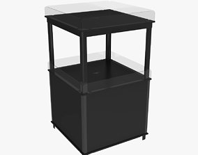 Stand plastic black 3D model