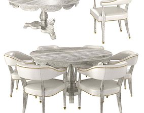 william yeoward overbury breakfast table and 3D model 1