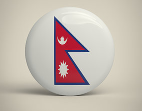 Nepal Badge 3D model