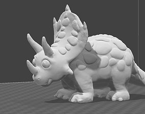 Funny Triceratops statuine 3D printable model