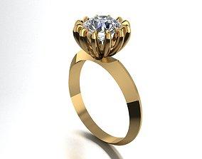1 stone ring 458 3D printable model