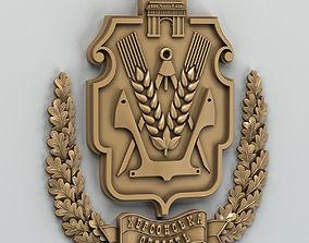 Coat of arms of Kherson region Ukraine 3D