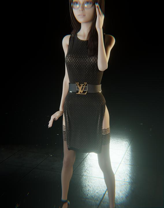 Dress Louis Vuitton For Female.
