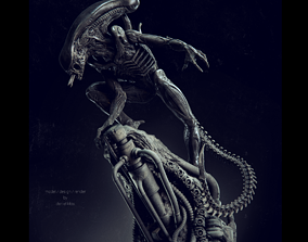 Alien Statue Fanart 3D printable model