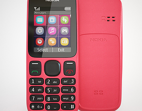 Nokia 100 - Coral Red 3D