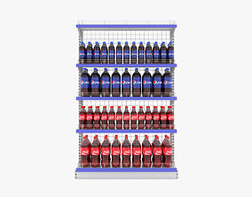 Supermarket Beverage Single Wire Shelf 3D