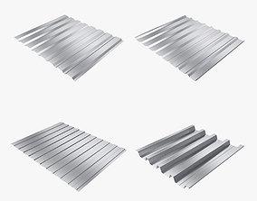 3D model Profiled sheet set