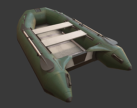 Inflatable Boat game asset 3D model