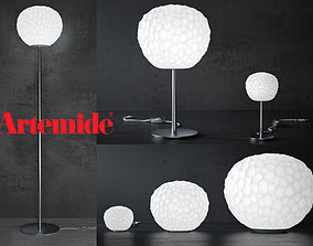 Meteorite lamp by Artemide Floor and Table set 3D model