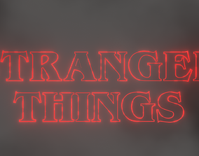 3D Stranger Things Theme Scene