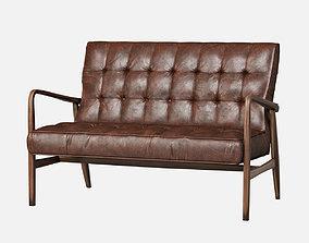 3D model Mid Century Sofa Leather