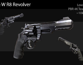 3D asset S and W R8 Revolver