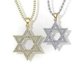 jewelry David Star set of two pendants 3D print model