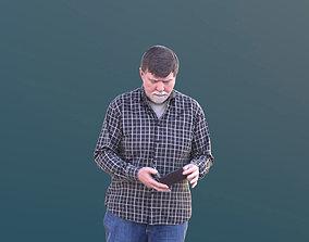 Bernd 10530 - Walking Best Ager Man 3D model