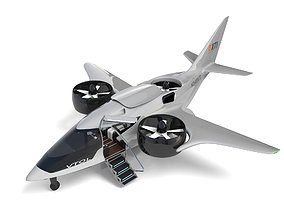 3D model Electric Aircraft XTI TriFan 600 with