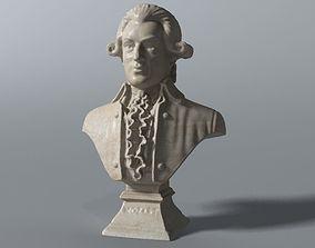 3D Mozart Bust