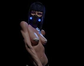 Cyberpunk katana girl 3D printable model
