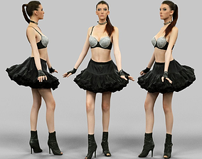 3D asset Ballerina in Black