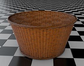 3D rigged Wicker Basket