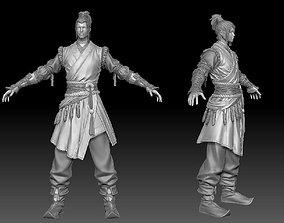 swordsman zbrush raw file 3D model