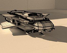 3D model spaceship AUR MAX