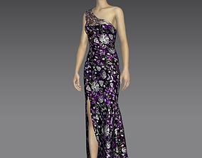 Purple Dress 3D model