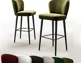 3D model Bar stool minotti aston
