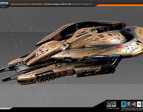 3D asset SF DRAKX Destroyer DK3