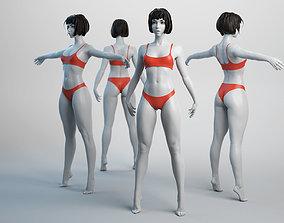 Female Basemesh 02 3D asset