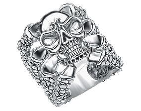 Ring 004 skull 3D printable model