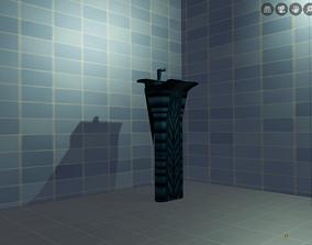 3D asset Washroom Shank